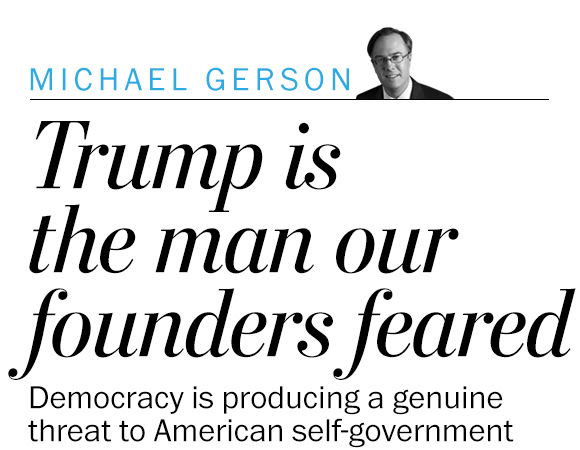 Trump is the demagogue that our Founding Fathers feared
