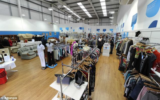 Cashing in: The out-of-town store in King's Lynn took £2,100 on its first day of trading