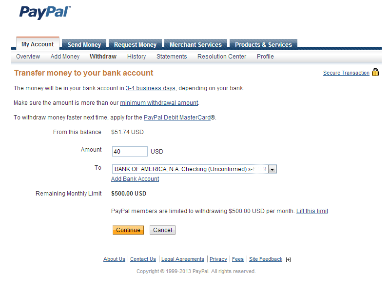 Finally I withdawn PayPal funds in my Payoneer Card
