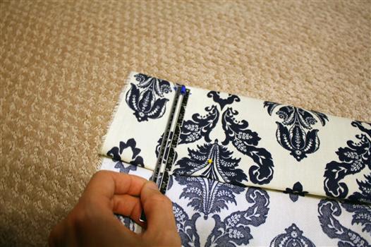 Hem lined drapery curtain panels