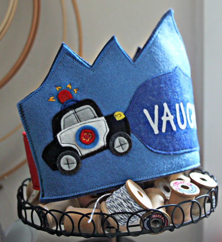 Police Car Crown Cuteness!