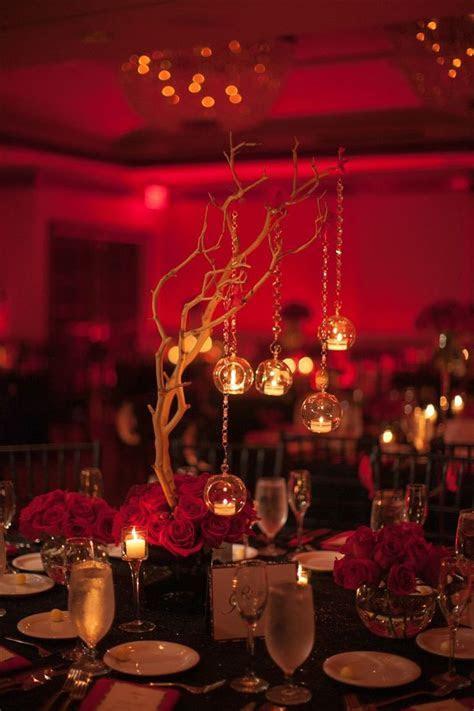 Black & Red Wedding Centerpieces  www.armoniapr.com
