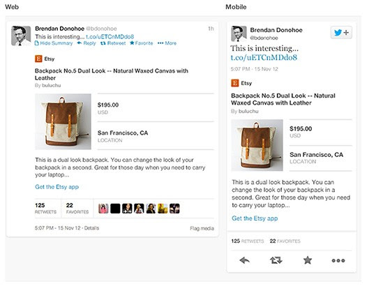 Twitter Cards for apps, products and photo galleries unveiled