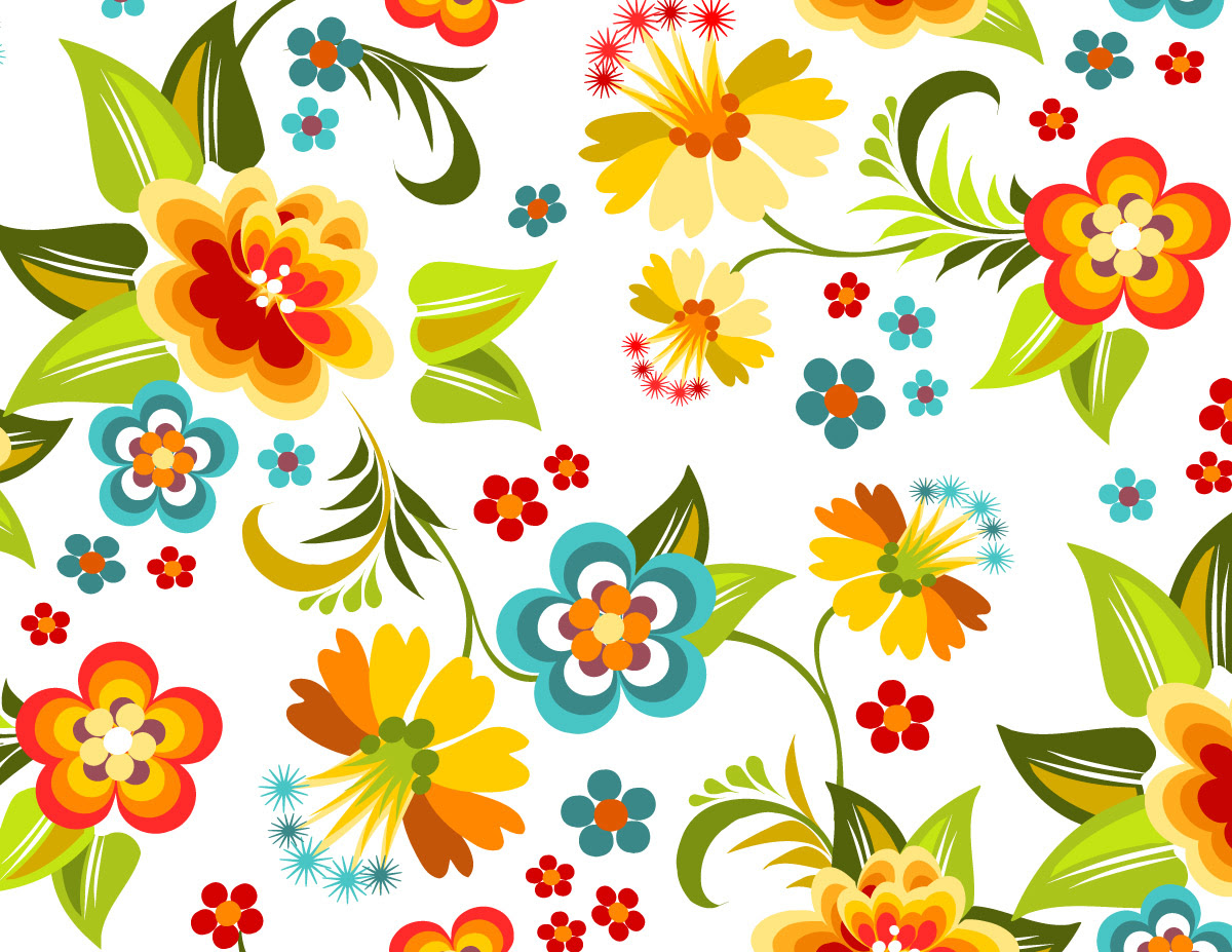 Colorful Floral Pattern Graphicskeeper Com