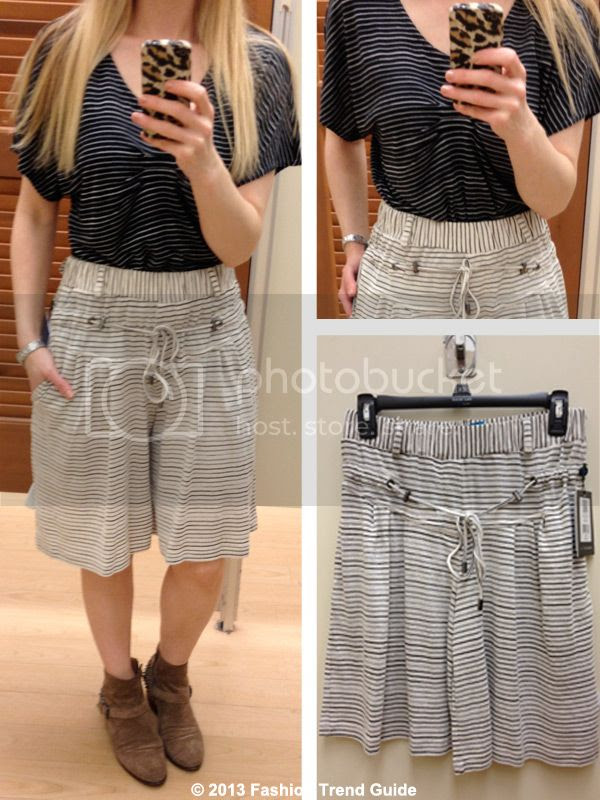Derek Lam for Kohl's DesigNation striped top and striped shorts