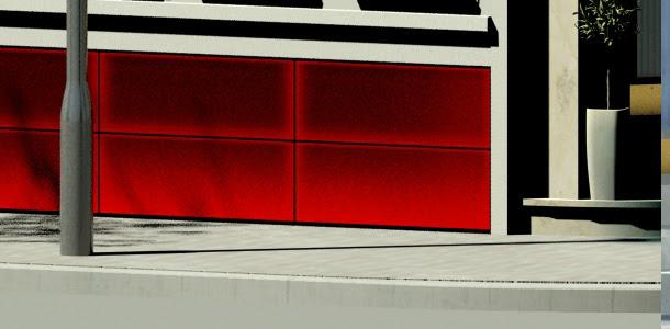 tiles with edge, false color image