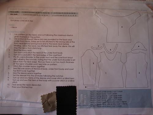 StyleArc Demi Drape Top construction