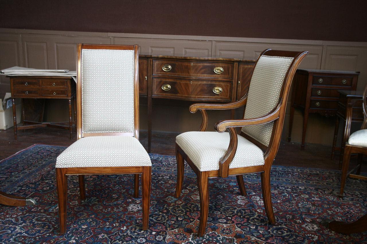Mahogany Dining Room Chairs | Regency | Upholstered | eBay