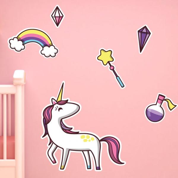 Stickers muraux licorne