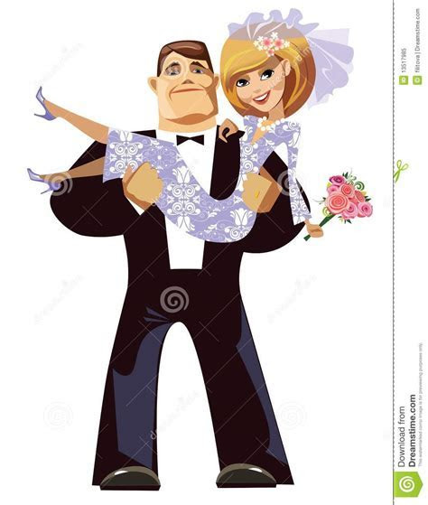 Cartoon Groom And Bride Royalty Free Stock Photo   Image