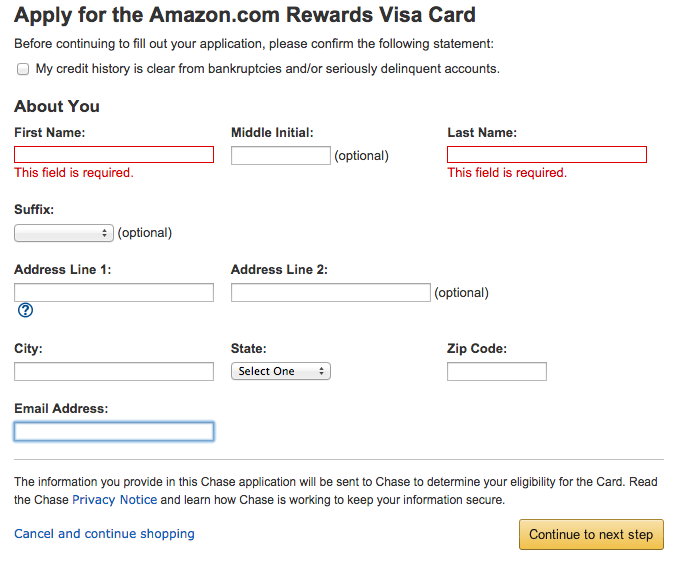 How to Apply for the Chase Amazon Credit Card