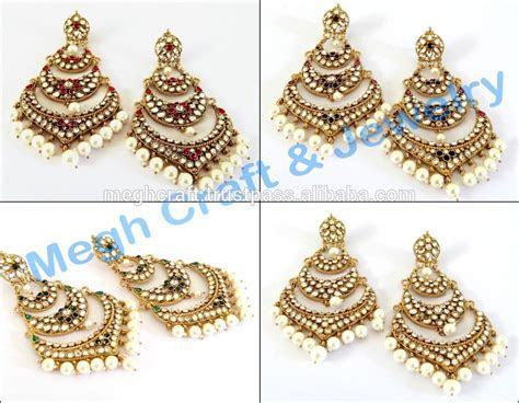 Wholesale Ladies Chandelier Kundan Long Earring pakistani