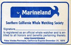 Marineland Whale Watching card