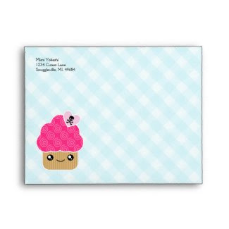 Mega Kawaii Evil Cute Cupcake A2 Envelopes envelope