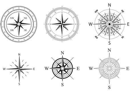 wind nautical compass rose vectors wind rose