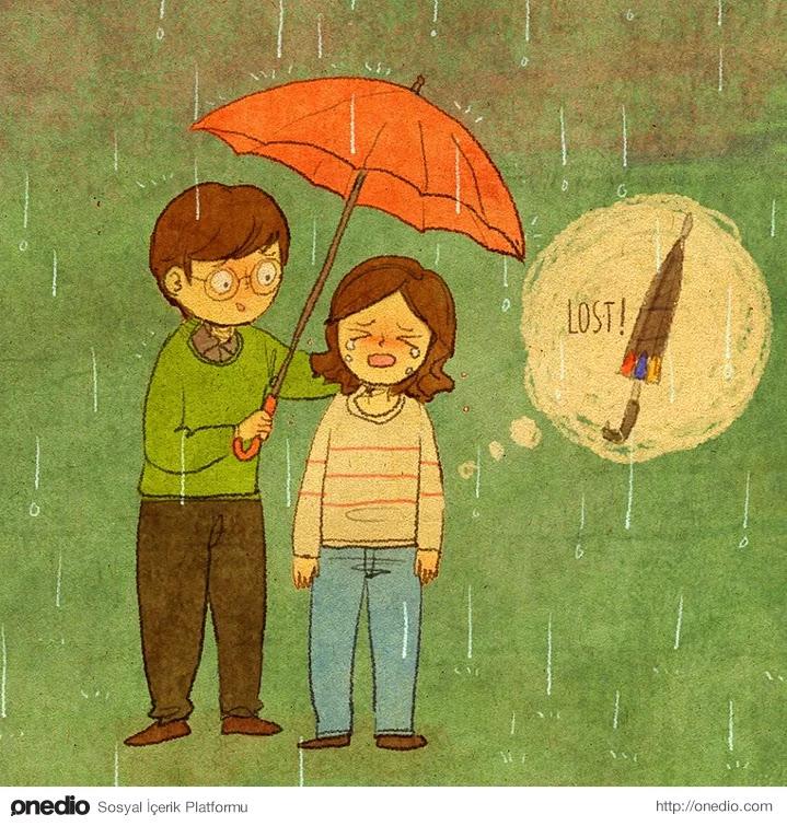 """""""Ne zaman yağmur yağsa şemsiyemi kaybetmiş oluyorum!"""""""
