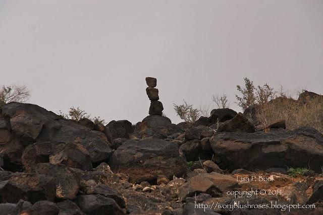 Petroglyph NM cairn