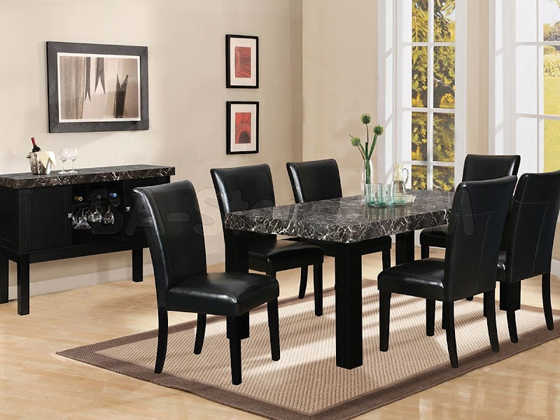 Beautiful Black Dining Room Furniture Decorating Ideas Photos