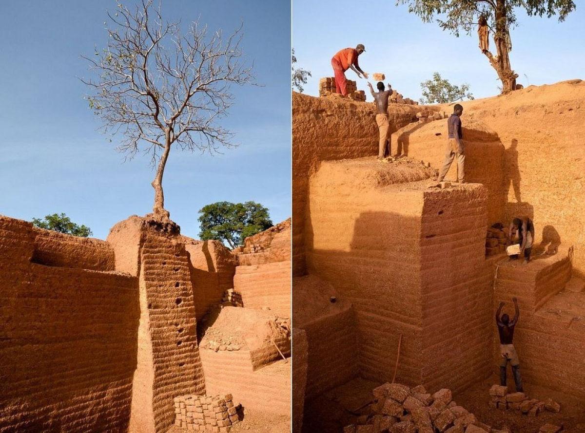 A pedreira de tijolos de Karaba em Burkina Faso 06