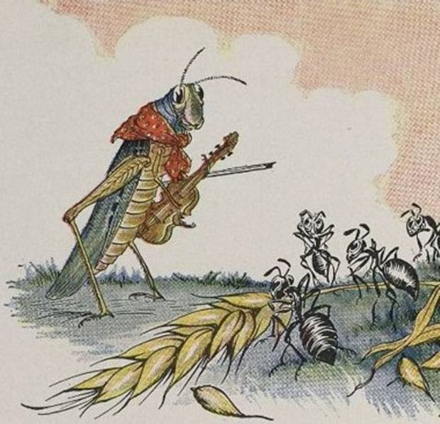 Aesop's Fables - The Ants And The Grasshopper By Milo Winter