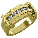 MENS 1/2 CARAT BRILLIANT ROUND CUT DIAMOND RING WEDDING