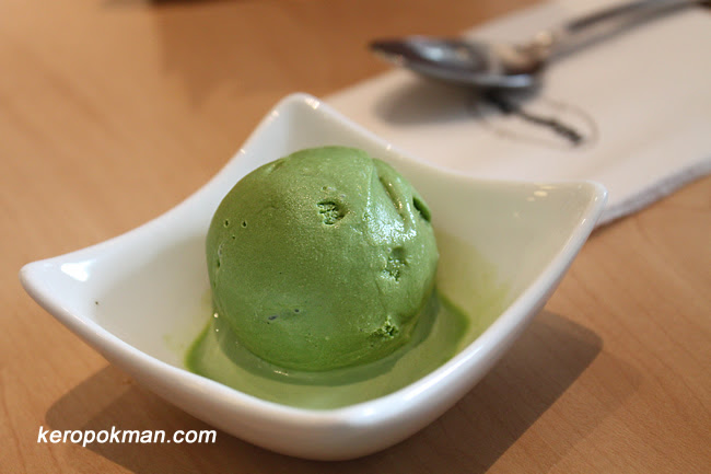 Mini scoop of Green Tea Ice Cream