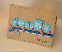 Hello Friend House card