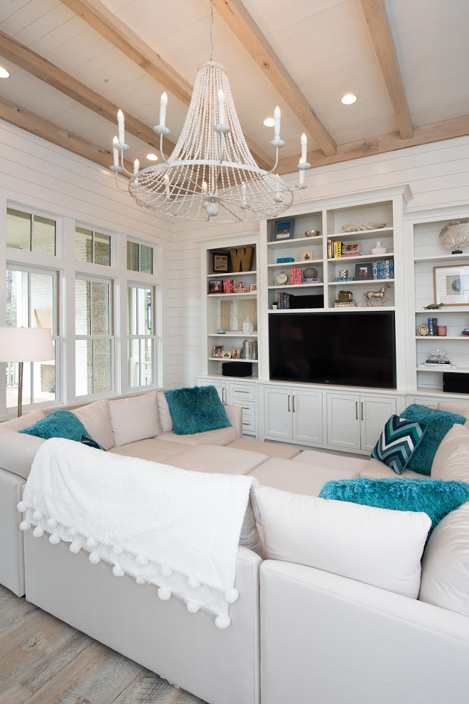 Beach House with Transitional Coastal Interiors - Home ...