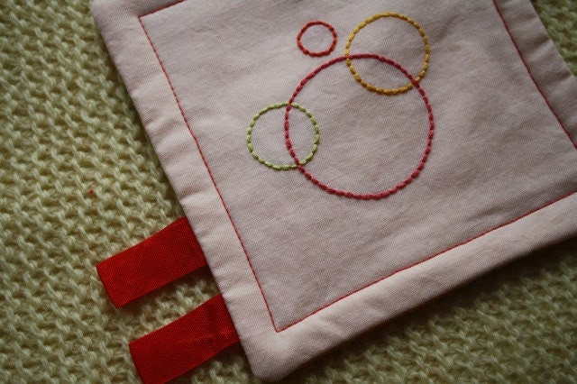 Pocket Crinkle Toy - Pink and Yellow