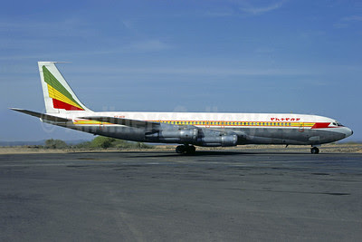Ethiopian Airlines Boeing 707-360C ET-ACD (msn 19736) JIB (Jacques Guillem). Image: 911893.
