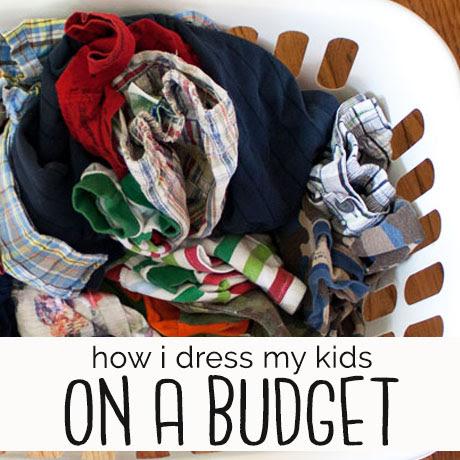 kids minimalist wardrobe on a budget