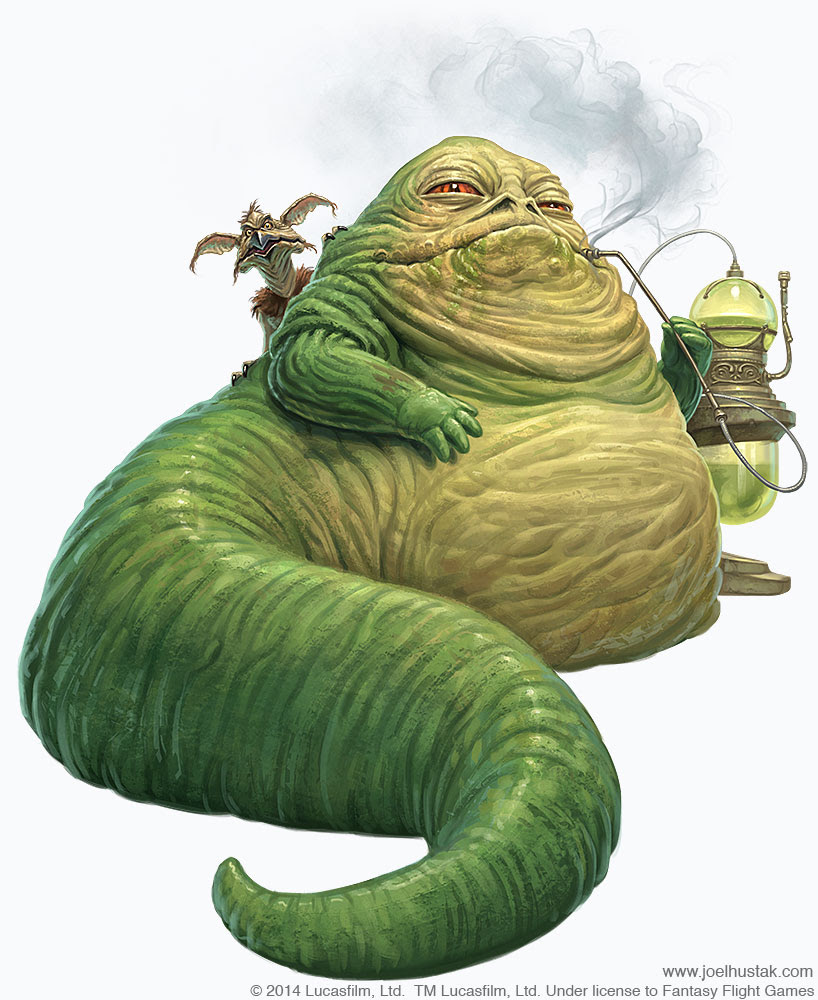 Jabba The Hutt by joelhustak