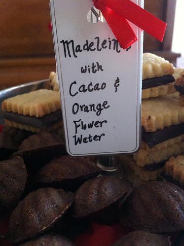 Chocolate Madeleines with Orange Flower Water