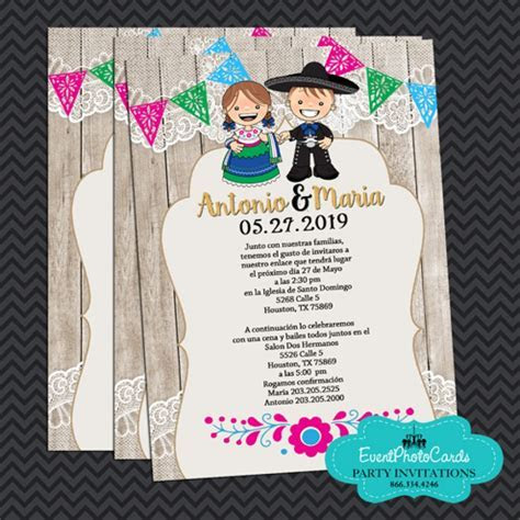Mariachi Wedding Invitations, Vaquero Wedding Invitations