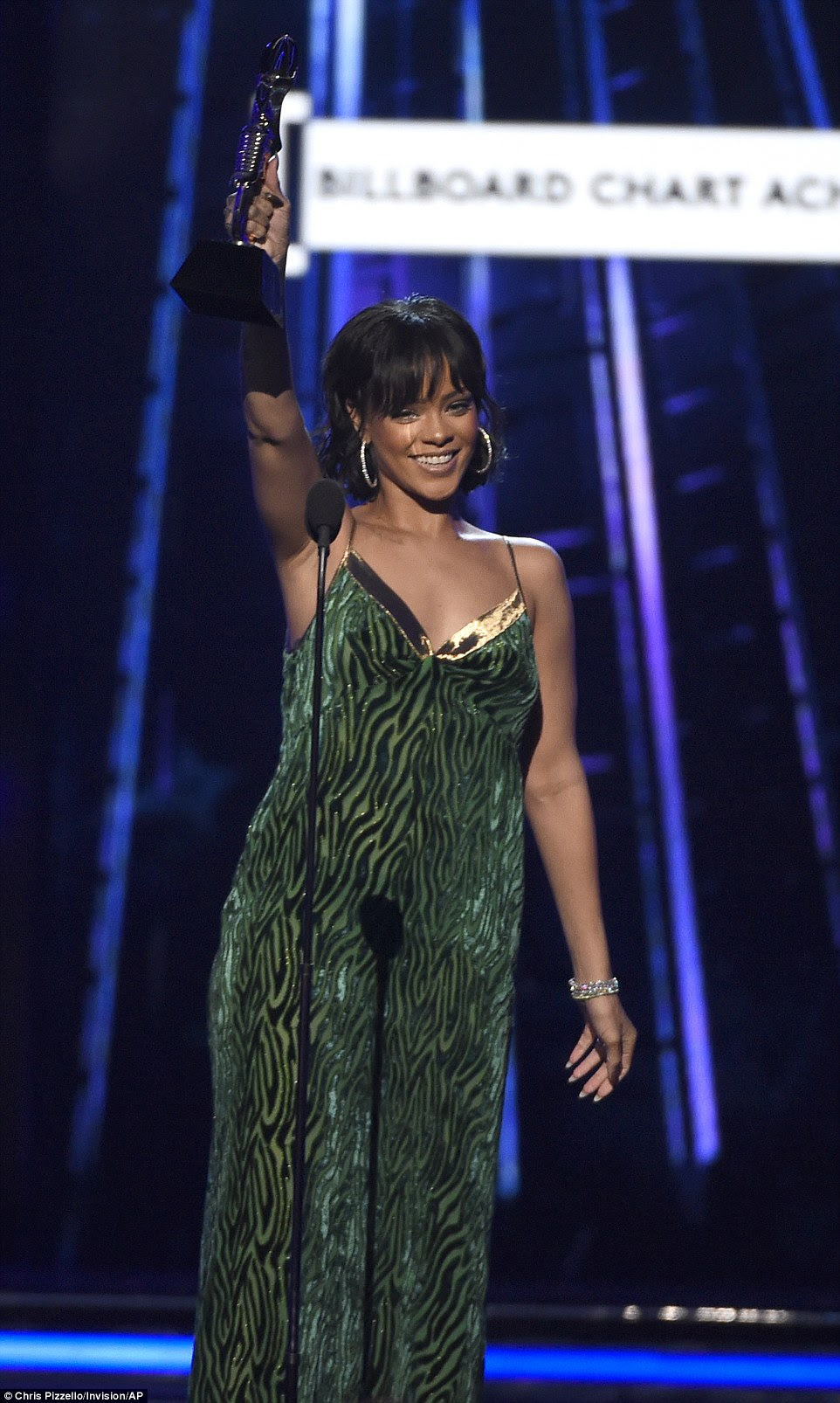 Grateful: The 28-year-old singer thanked her fans first as their votes put her over the top