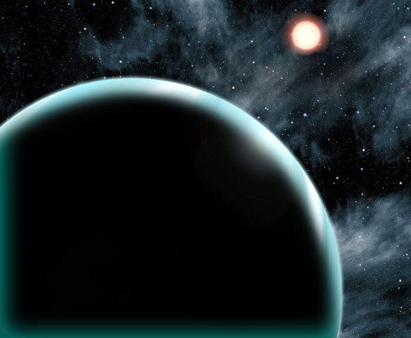 An artist's concept of the exoplanet Kepler-421b.
