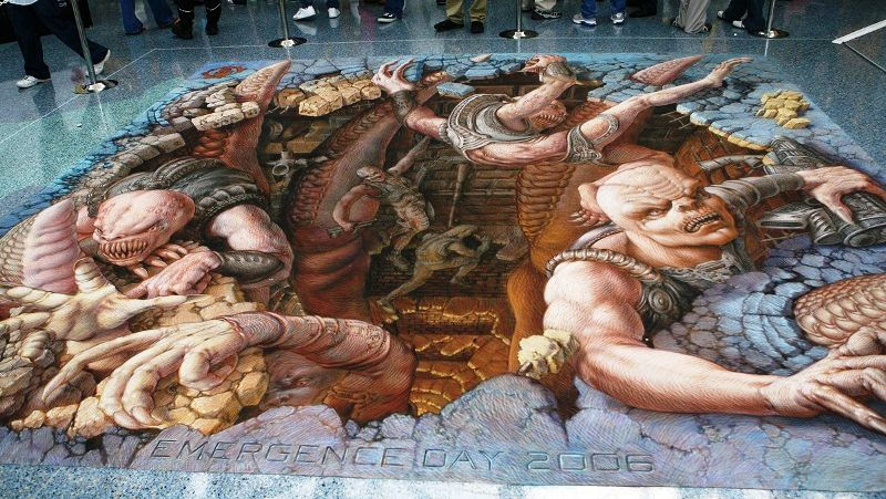 QPXY0 The Incredible World Of 3D Street Art