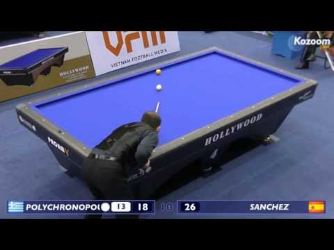 Polychronopoulos runs 22 in 3 cushion and finishes the game on Sanchez!!!