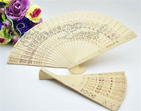 chinese hand fans sandalwood wedding favors bridal