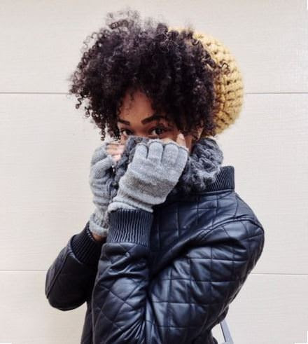 beanie natural hair