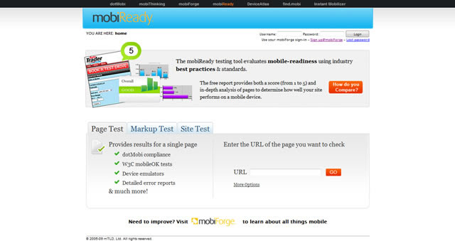 mobiReady - dotMobi Cumplimiento y mobileOK Checker