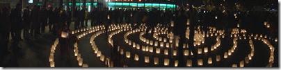 Allerheiligen - Lichter-Labyrinth mit Agnes Barmettler 2