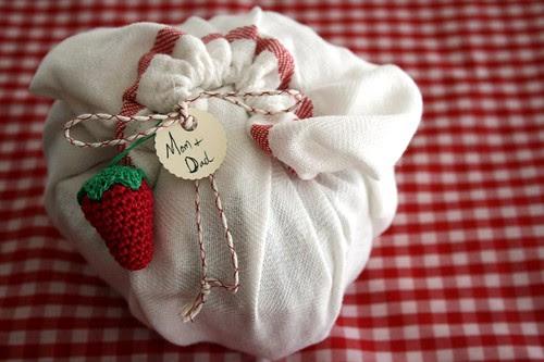 homemade gift wrap