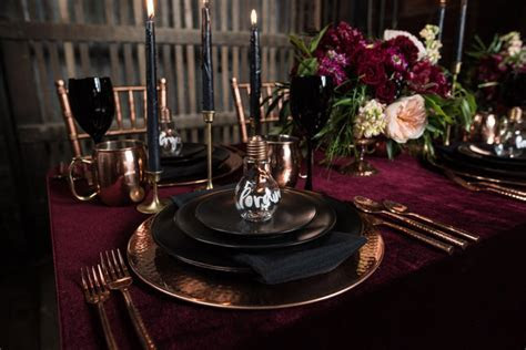 Moody Burgundy & Black Industrial Wedding Ideas   Every