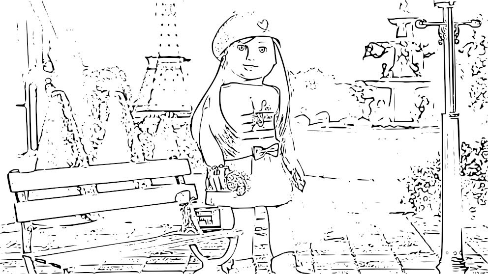 American Girl Coloring Pages - Coloringnori - Coloring Pages For Kids