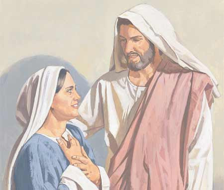Jesus with mother