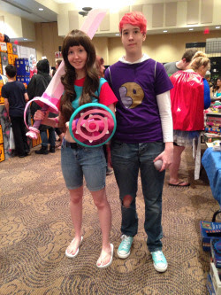 Stevonnie and Lars Garnet, Lapis Lazuli, Amethyst, Stevonnie Sci-Fi Valley Con If you see yourself, ask me to tag!