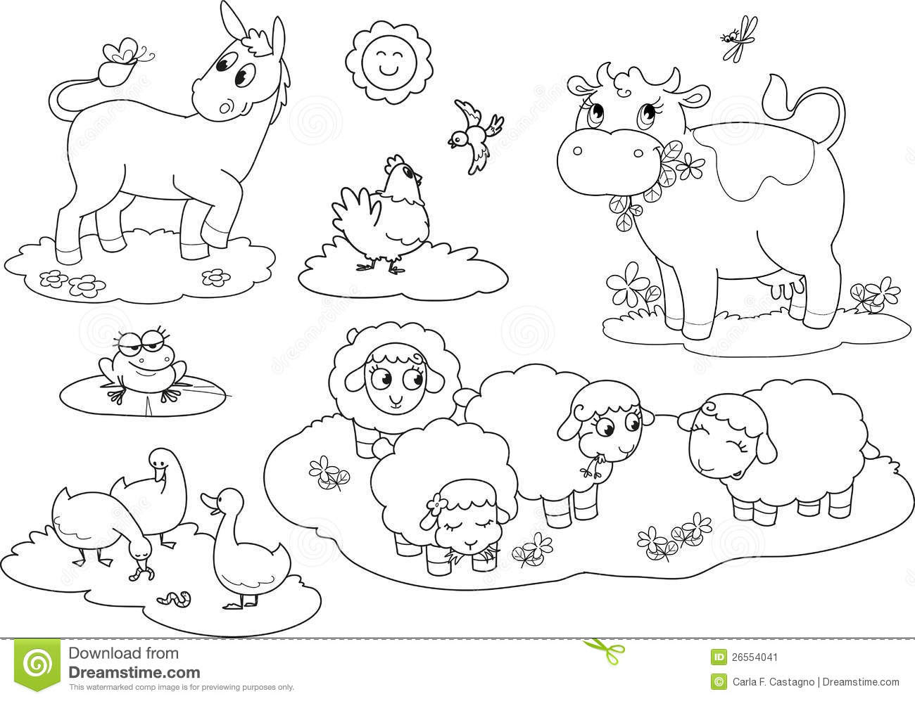 Farm Animal Coloring Pages Printable Baby Goats Coloring Page And Thebooks