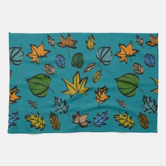 Autumn Leaves on Kitchen Towel