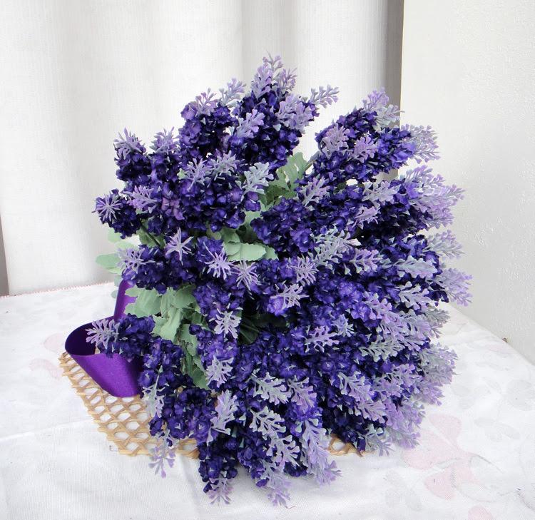 Artificial flowers silk flower floral wedding bride holding flowers lavender flower wrist